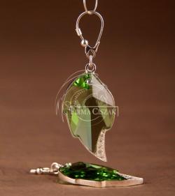 crystal leaf peri earrings...