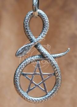 Pentagram z wężem