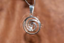 Spirala z kamieniem wisior