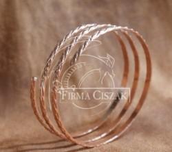 Bransoleta spirala Cu