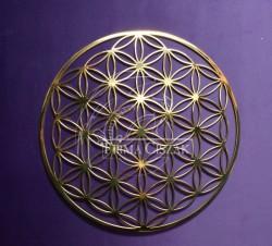 Kwiat Życia metal-złocony 13cm