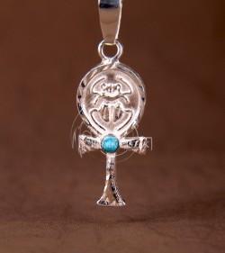 Krzyż Ankh z Turkusem
