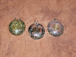 Orgonite jewelry, 5 cm high
