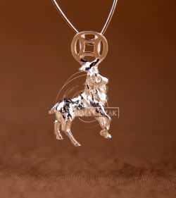 Chinese character pendant goat