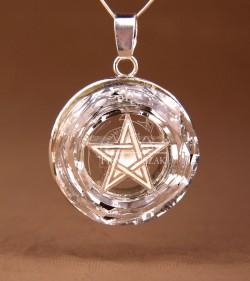 pentagram in a circle crystal
