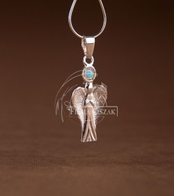 Angel with moonstone
