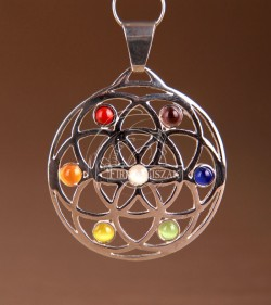 Flower of life with stone